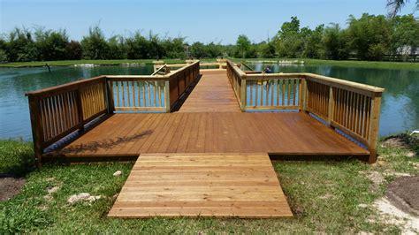 Wood Deck on Private Lake   Houston Custom Decks & Pergola