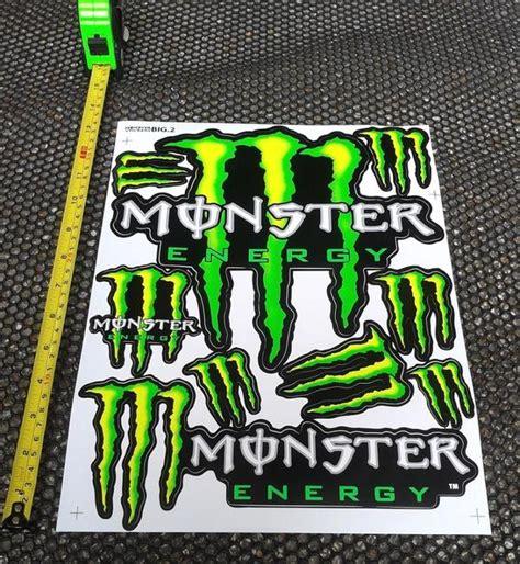 Monster Energy Kart Aufkleber by Xxl Monster Energy Logo Aufkleber Sticker 27cm X 36cm Rc
