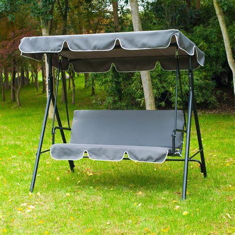 metal bench swing 3 person swing chair metal garden outdoor hammock lounger
