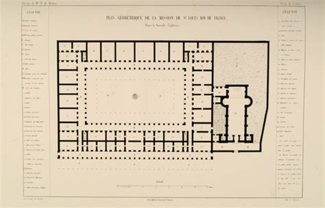mission san luis rey de francia floor plan dsrb auction 12 lot 30