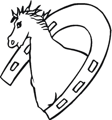coloring page horseshoe horseshoe coloring pages horse shoe