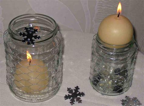 adventskerzenhalter glas teelichthalter aus glas und draht selbermachen