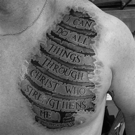 scripture tattoo ideas for men 40 philippians 4 13 designs for bible verse ideas