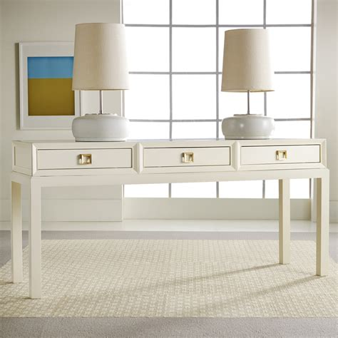 White Lacquer Console Table Product Selections Homesfeed White Console Desk