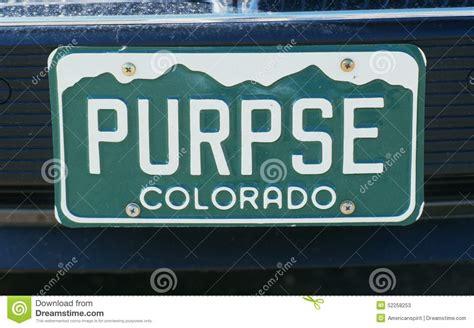Vanity Plates Colorado by Vanity License Plate Colorado Editorial Stock Photo