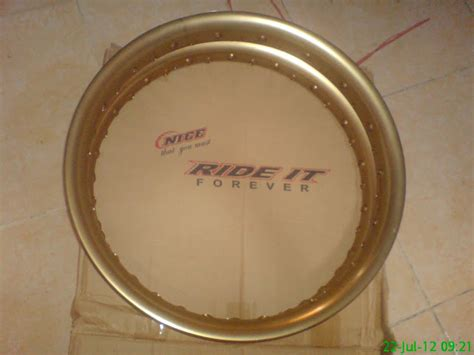 Velg Tk Japan Excel Ukuran 185 215 17 ride it gold velg motor murah