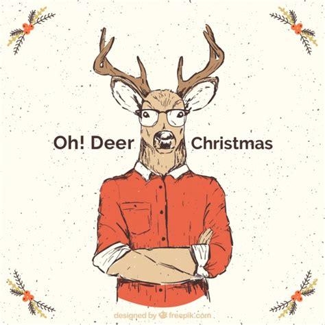 imagenes hipster navidad tarjeta de navidad de reno en estilo hipster descargar