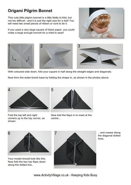 printable origami turkey instructions pilgrims origami and dolls on pinterest