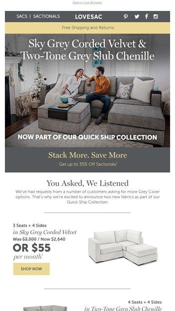 lovesac black friday new sactionals cover options just in time for our black