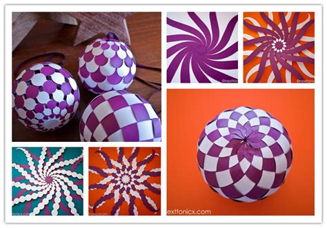 How To Make A Paper Bauble - how to make pretty woven paper baubles step by step diy