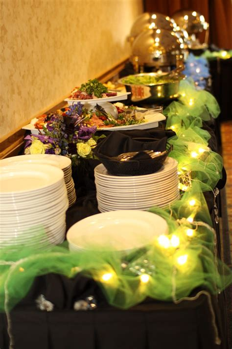 how to decorate a buffet table decorate buffet table w tulle christmas lights baby