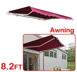 outsunny 8 manual retractable patio awning