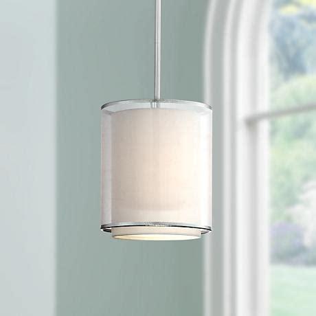 possini euro design double organza 16 wide ceiling light possini euro design double organza mini pendant light