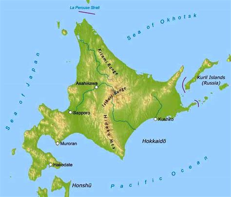 printable map hokkaido image gallery hokkaido island map