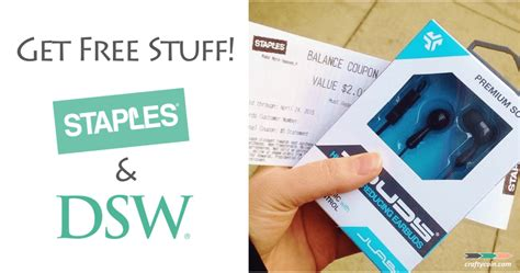 Gets Free Stuff by Get Free Stuff At Staples Dsw Crafty Coin