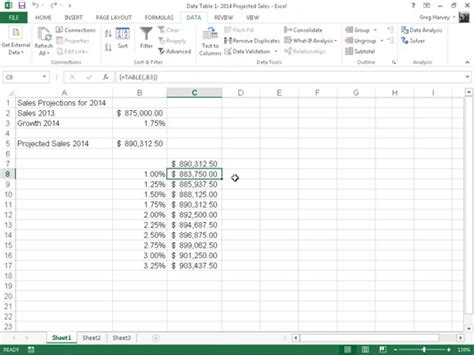 One Variable Data Table Excel 2013 by How To Create A One Variable Data Table In Excel 2013