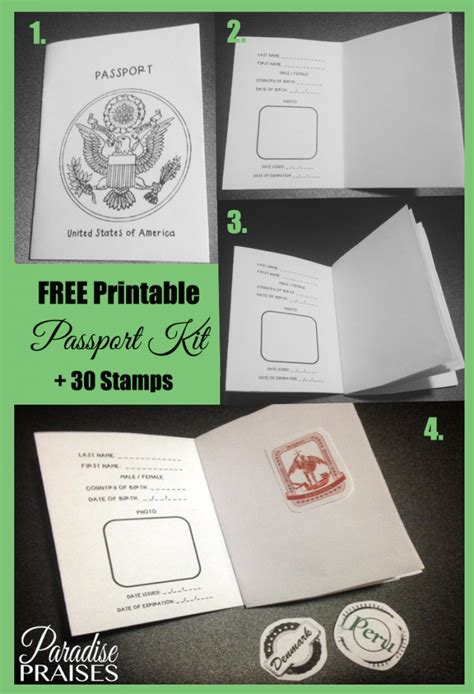free passport template for free printable passport st activity free printable
