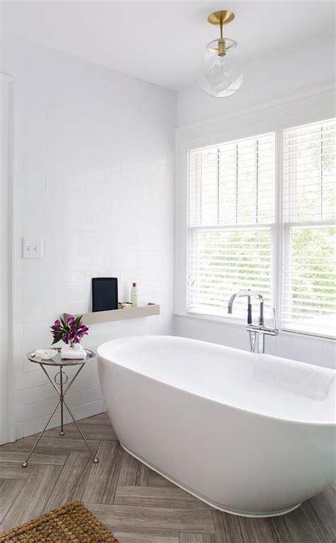 herringbone bathroom white bathroom with gray herringbone tile floor