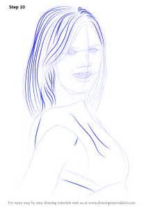 learn   draw heidi klum female models step  step drawing tutorials