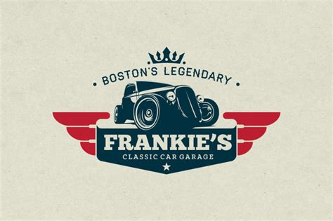 classic car garage logo logo templates on creative market