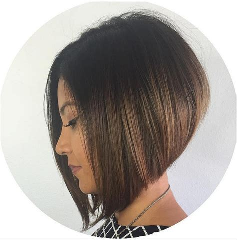 graduated bob haircut graduated black bob haircut dark brown hairs