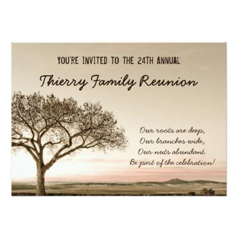 family invitations high country family reunion invitation zazzle