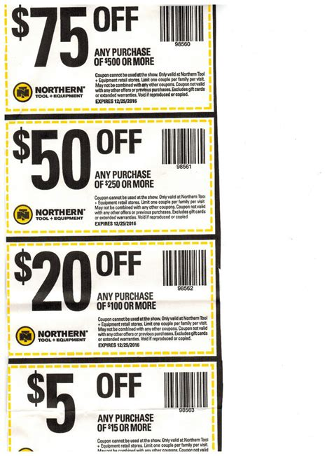 Northern Tool Gift Card - 150 northern tool equipment coupons exp 12 25 2016 ebay