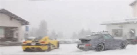 koenigsegg winter 1 160 hp koenigsegg agera rs ml plows the snow in swiss