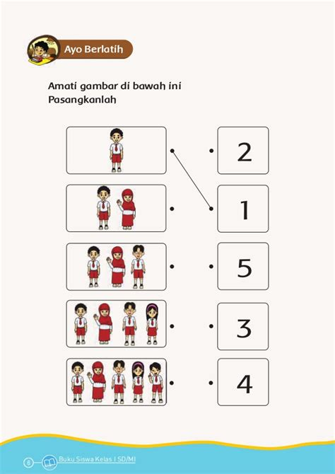 Buku Anak Belajar Matematika Ceria Untuk Paud Tk tema 1 diriku kurikulum 2013 buku siswa bse kelas 1 sd