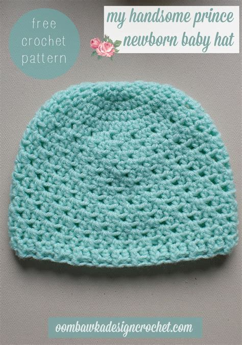 Free Giveaways For Newborn Babies - my handsome prince newborn baby hat oombawka design crochet