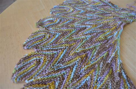 shawl pattern variegated yarn pincha shawl complete