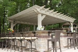 Vinyl Pergola by Custom Urbana Vinyl Pergola Herron S Amish Furniture