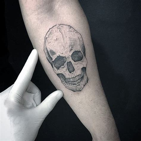 small inner arm tattoos 50 small skull tattoos for mortality design ideas