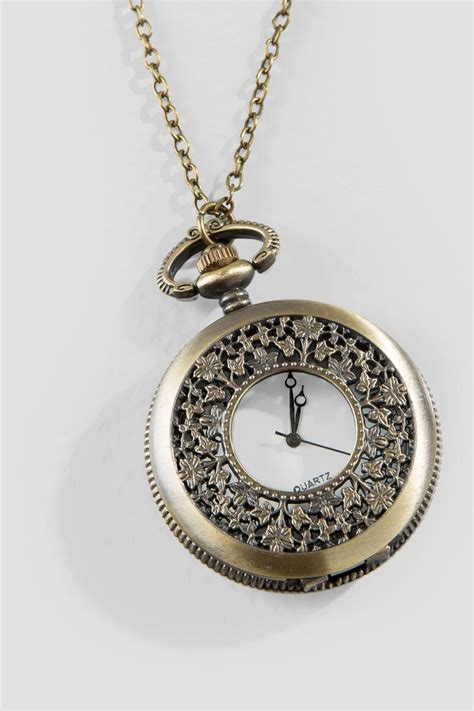 Clock Necklace polly large clock pendant necklace s