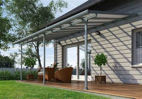 Palram Patio Covers by Palram Feria 10x28 Patio Cover Gray Hg9428 Free Shipping