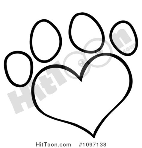 coloring page of dog paw prints dog paw print outline clip art 45