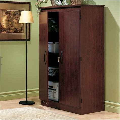 Wood Office Cabinets With Doors Park 2 Door Storage Cabinet In Royal Cherry Finish 7206970
