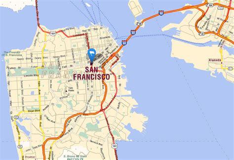 san francisco map traffic san francisco map