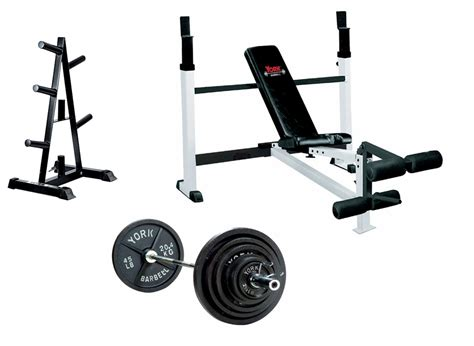 york weight benches york olympic bench press package
