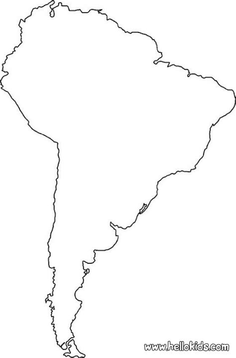 coloring page map of south america south america coloring pages hellokids com