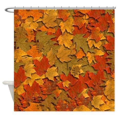 autumn leaves shower curtain shower curtain with autum leaves by twitchingoodies