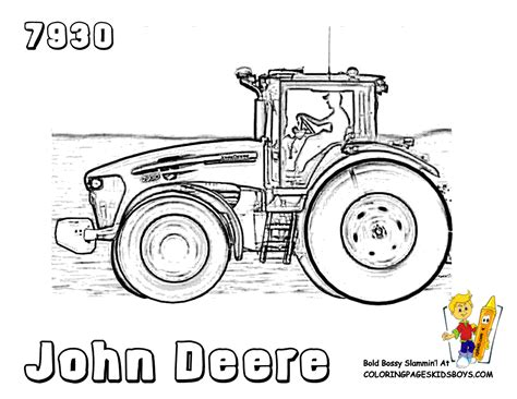john deere tractors coloring pages for kids john deere