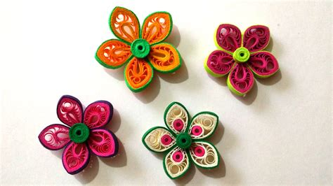 Paper Quilling How To Make Flowers - how to make beautiful flower using paper quilling doovi