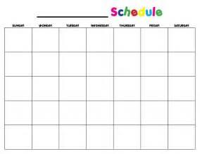 calendar template for children help your keep a schedule printable calendar