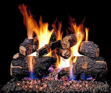 How To Light A Gas Log Fireplace by Real Fyre 18 Quot Charred Oak Vented Gas Logs Set