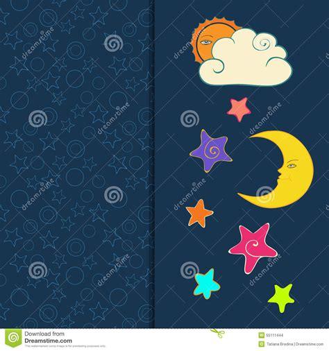 sol luna y estrellas imagui tarjeta de felicitaci 243 n con el sol la luna y las