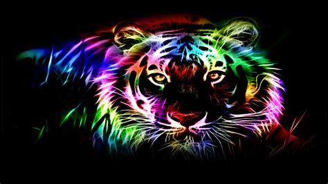 Kaos 3d Tiger Neon neon tiger wallpaper 65 images
