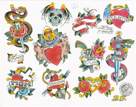 classic tattoo designs flash baxter s