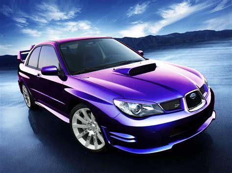 purple subaru impreza subaru impreza wrx sti un coche de color morado metalizado