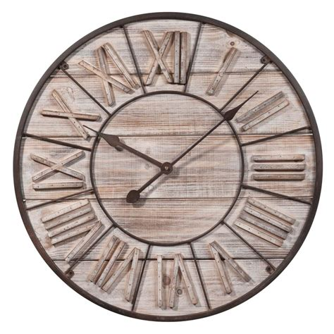 horloge 60 cm de diametre horloge en bois d 60 cm toscana maisons du monde